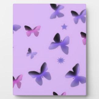 Dance of Butterflies in Lilac Purple Plaque
