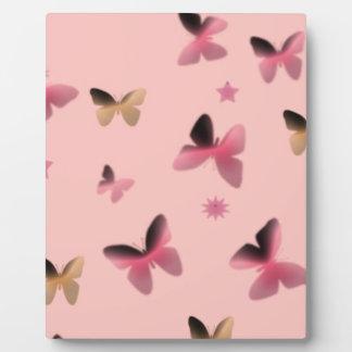 Dance of Butterflies in Pink Plaque