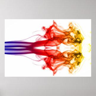 Dance of color - Smoke Poster