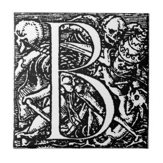 Dance of Death Alphabet letter B tile
