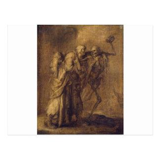 Dance of Death by Adriaen van de Venne Postcard