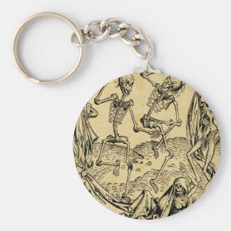 Dance Of Death By Michael Wolgemut 1493 Keychain