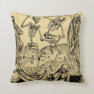 Dance Of Death By Michael Wolgemut 1493 Throw Pillow