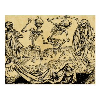 Dance Of Death By Michael Wolgemut 1493 Postcard