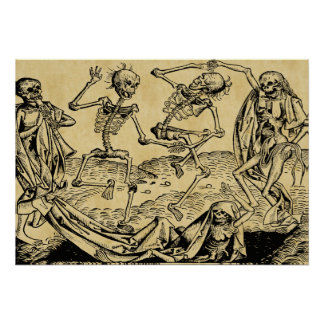 Dance Of Death By Michael Wolgemut 1493 Poster