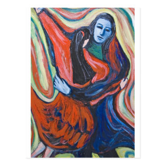 Dance of Death (dark symbolism painting) Postcard