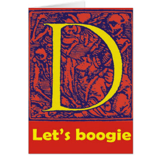 "Dance of Death ""Let's Boogie"" D Card"