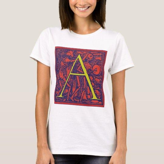 Dance of Death Letter A T-Shirt