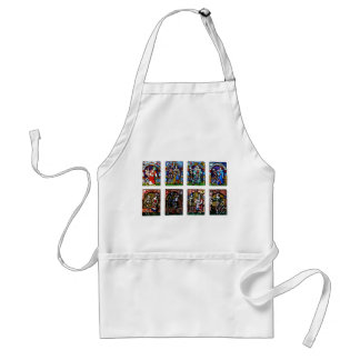 Dance of Death Stained Glass Aprons
