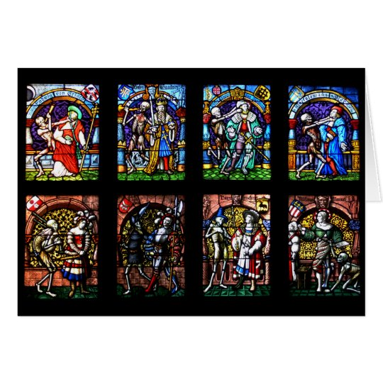 Dance of Death Stained Glass Card