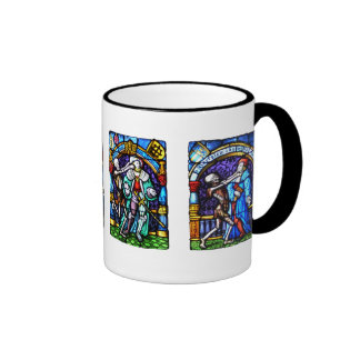 Dance of Death Stained Glass Ringer Coffee Mug