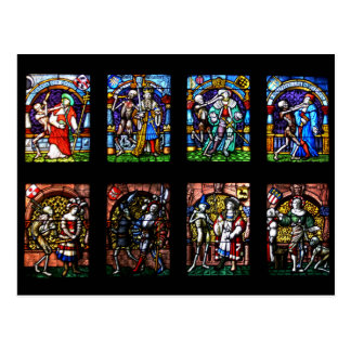 Dance of Death Stained Glass Postcard