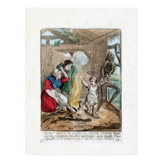 Dance of Death - The Child - 1816 Color Print Postcard