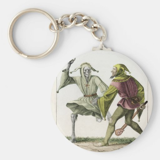 Dance of Death - The Fool Basic Round Button Keychain