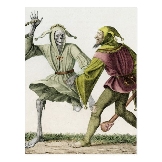 Dance of Death - The Fool Postcard