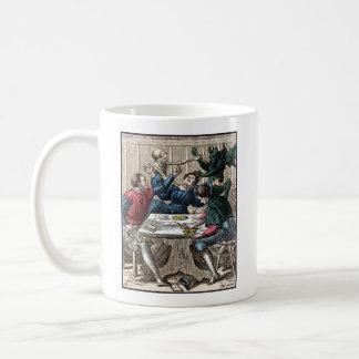 Dance of Death - The Gambler - 1816 Color Print Classic White Coffee Mug