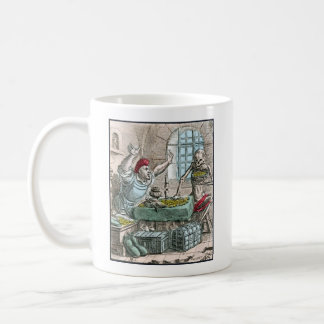 Dance of Death - The Miser - 1816 Color Print Classic White Coffee Mug