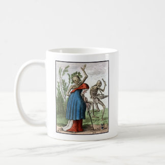 Dance of Death - The Old Woman - 1816 Color Print Coffee Mug
