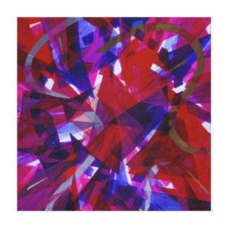 Dance of Life - Abstract Whimsical Light Gallery Wrapped Canvas