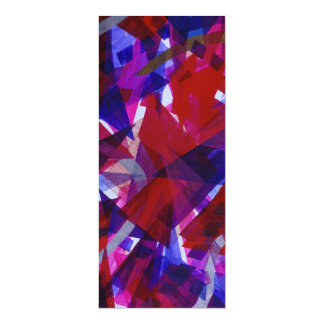 "Dance of Life - Abstract Whimsical Light 4"" X 9.25"" Invitation Card"