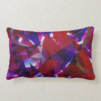 Dance of Life - Abstract Whimsical Light Lumbar Pillow