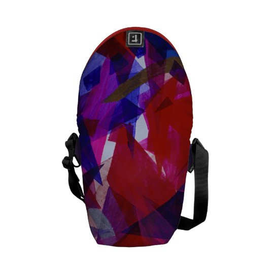 Dance of Life - Abstract Whimsical Light Mini Courier Bag