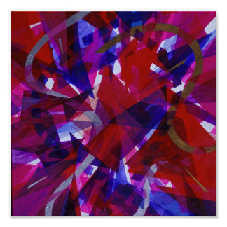 Dance of Life - Abstract Whimsical Light Posters