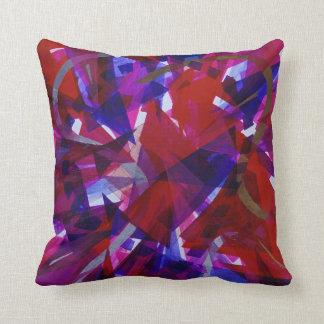 Dance of Life - Abstract Whimsical Light Throw Pillow
