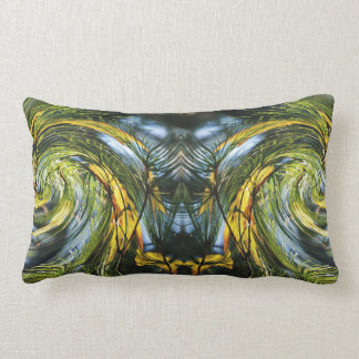Dance of Pine Needles & Autumn Leaves Lumbar Pillow