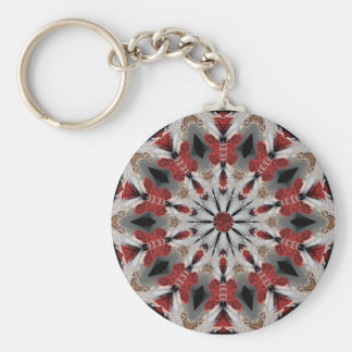 Dance of the butterflies! basic round button keychain