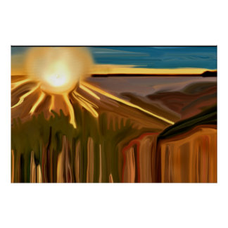 Dance Of The Cacti Abstract Art Poster