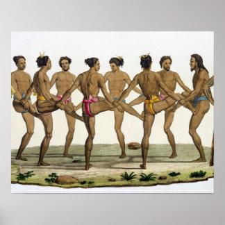 Dance of the Caroline Islanders plate 22 from Le Print