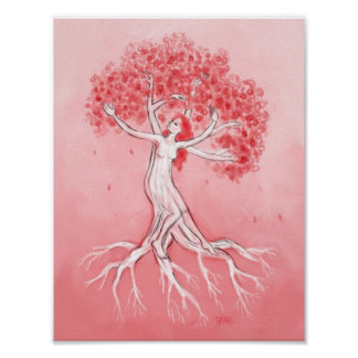 Dance of the Cherry Blossom Tree Poster