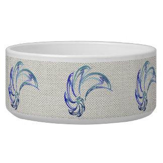Dance of the Dolphins Abstract Art Bowl