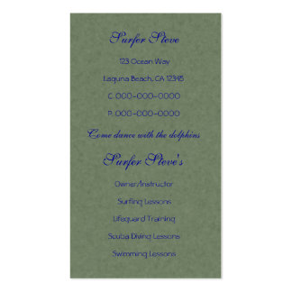 Dance of the Dolphins Abstract Art Business Cards