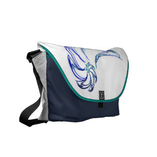 Dance of the Dolphins Abstract Art Courier Bag