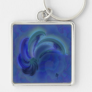 Dance of the Dolphins Abstract Art Keychain