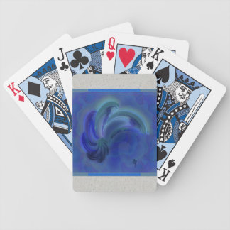 Dance of the Dolphins Abstract Art Poker Deck