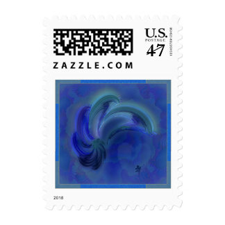 Dance of the Dolphins Abstract Art Postage