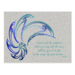 Dance of the Dolphins Abstract Art Postcard