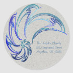 Dance of the Dolphins Abstract Art Sticker