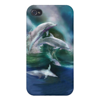 Dance Of The Dolphins Art Case for iPhone 4/4S Cover For iPhone 4