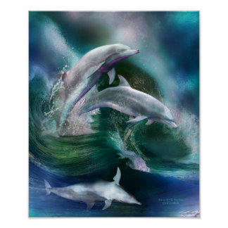 Dance Of The Dolphins Art Poster/Print Poster