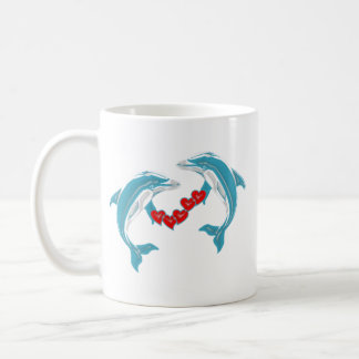 Dance of the Dolphins Classic White Coffee Mug