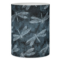 Dance of the Dragonflies Elegant Teal Green Flameless Candle