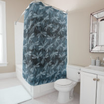 Dance of the Dragonflies Elegant Teal Green Shower Curtain