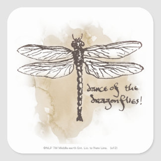 Dance of the Dragonflies Square Sticker