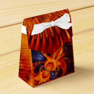 Dance of the Dragons, Abstract Indigo Amber Eyes Party Favor Box