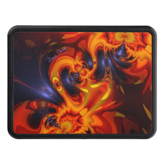 Dance of the Dragons, Abstract Indigo Amber Eyes Tow Hitch Cover