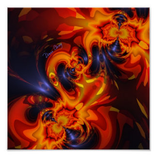 Dance of the Dragons - Indigo & Amber Eyes  Artist Poster